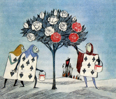 "Tove Jansson. Illustration to the story by L. Carroll ""Alice in Wonderland"""