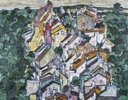 Egon Schiele. The city, immersed in greenery (the Old city III)