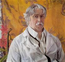 Александр Яковлевич Головин. Автопортрет на фоне золотистого платка