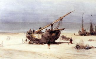 Йоханнес Босбум. Корабли на пляже Схевенингена