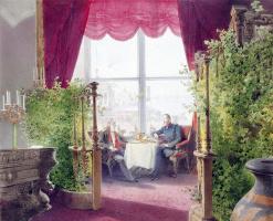 Михай Зичи. Завтрак императоров Александра II и Вильгельма I в зимнем дворце