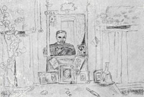Виктор Ефимович Попков. Автопортрет в зеркале