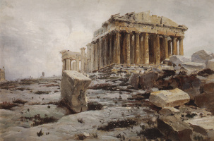 Vasily Dmitrievich Polenov. The Parthenon. The Temple Of Athena Parthenos
