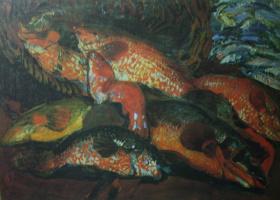"Boris Izrailevich Anisfeld. Fish"" 1910s"