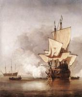 Виллем ван де Вельде Младший. Сюжет 13
