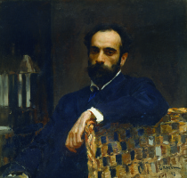 Portrait of the artist I. I. Levitan