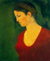 Аристид Майоль. Девушка в красном (Портрет Дины Верни)