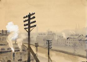 Николай Федорович Лапшин. Крыша. Вид обводного канала