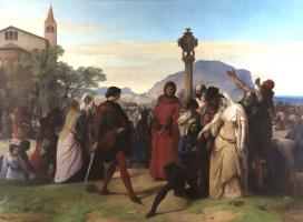 """Франческо Айец. Цикл картин """"Сицилийская вечерня"""". Сцена 3"""