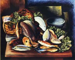 Моисей Кислинг. Натюрморт с рыбой