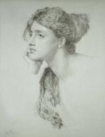 Энтони Фредерик Огастас Сэндис. Портрет молодой женщины (Задумчивость)