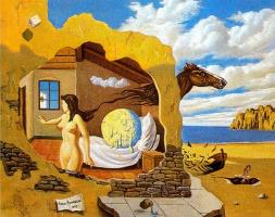 Анхель Планеллс. Обнаженная девушка и лошадь