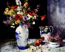 Пьер Тоугас. Цветы, фрукты и серебро