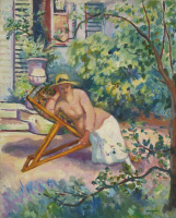 Henri Manguin. Jean in the garden, Neuilly