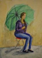 Зина Владимировна Парижева. Девушка с зонтиком
