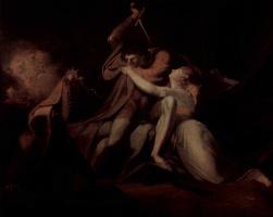 Иоганн Генрих Фюссли. Парсифаль освобождает Белизану от волшебных пут Урмы