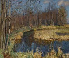 Станислав Юлианович Жуковский. Осенняя река