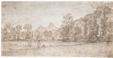 Фердинанд Оливье. Пейзаж близ Айгена в окрестностях Зальцбурга