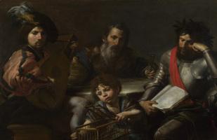 Valentin de Boulogne. Four ages of man