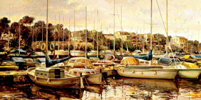 Денис Рубио. Лодки на воде
