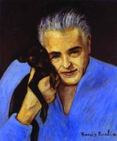 Франсис Пикабиа. Седой мужчина с собакой