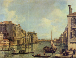Giovanni Antonio Canal (Canaletto). View of the Grand canal towards the Harbor of San Marco