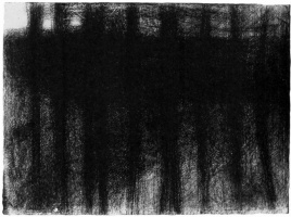 Georges Seurat. The tree trunks reflected in the water