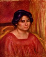 Pierre Auguste Renoir. Gabrielle in a red blouse