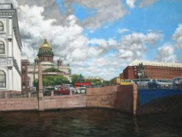 Alexander Nikolaevich Bezrodny. St. Isaac's square