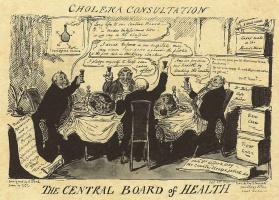 Джордж Крюйкшенк. Совещание по холере в Министерстве здравоохранения