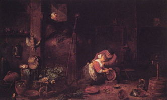 Ferdinand Georg Waldmüller. The old man, and after David Teniers