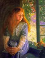 Сьюзен Рикер Нокс. Девушка смотрит в окно