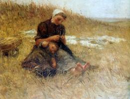 Бернардус Бломмерс. Мать и дитя в дюнах