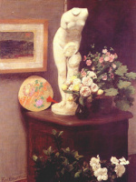 Анри Фантен-Латур. Натюрморт с цветами