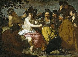 Diego Velazquez. The Triumph Of Bacchus (The Drunkards)