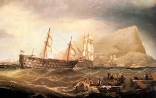 Чарльз Генри Миллер. Корабли в Гибралтаре