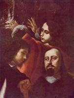 Карел Шкрета. Резчик драгоценных камней Дионисио Мизерони с семьей