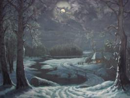 Анатолий Петрович Кондратенко. Зимняя  ночь