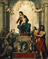 Антонио Корреджо. Мадонна с Святым Франциском