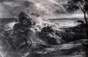 Питер Пауль Рубенс. Пейзаж с кораблекрушением Энея