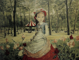 Цугухару Фудзита ( Леонар Фужита ). The girl in the Park