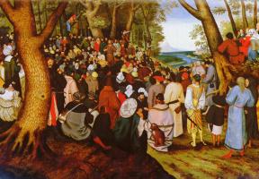 Питер Брейгель Младший. Пейзаж с проповедью Св. Иоанна Крестителя