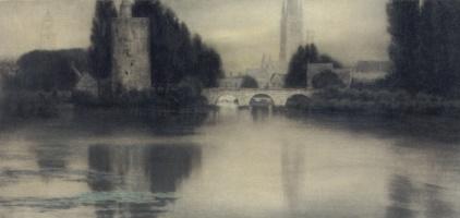Fernand Khnopff. Lake D'amour, Bruges