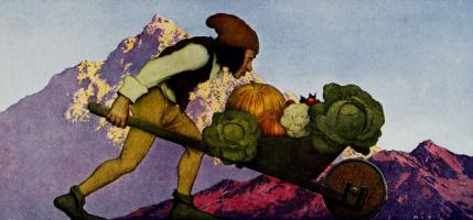 Maxfield Parrish. Vegetables of the gardener
