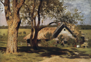 Isaac Levitan. House with willows
