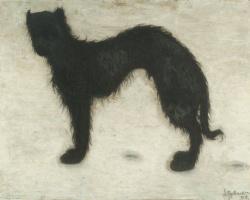 Леон Спиллиарт. Собака на снегу