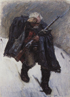 Василий Иванович Суриков. Старый солдат