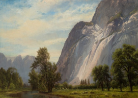 Альберт Бирштадт. Долина Йосемити, водопад