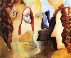 Marcel Duchamp. Yvonne and Magdelaine burst in tatters.