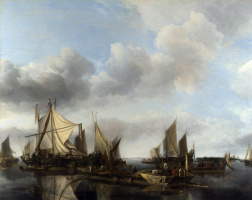 Ян ван де Каппель. Парусники